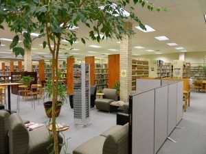 Another view of the adult area at the Pearsall Public Library.