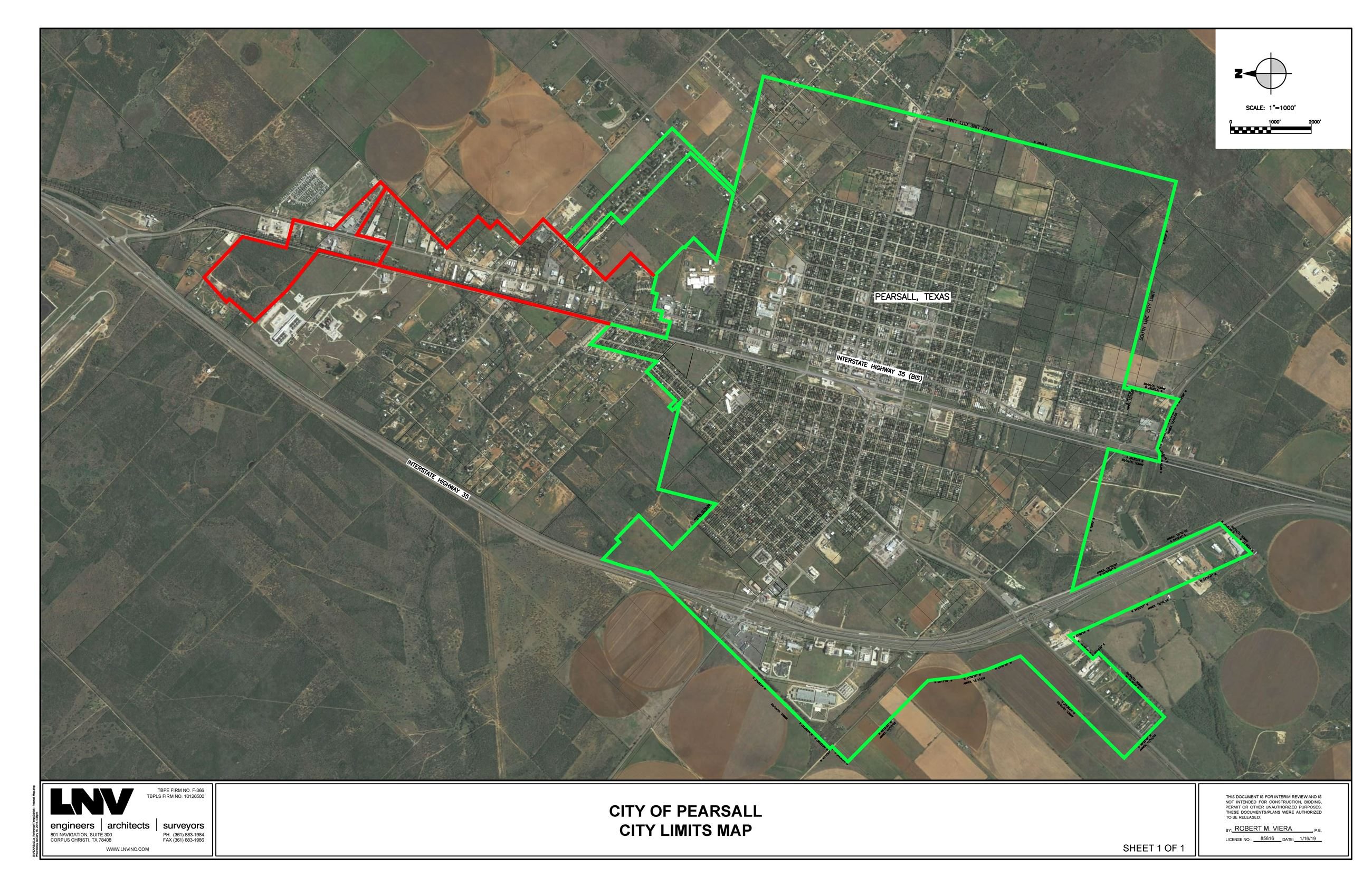 Pearsall City Limits Map 2019