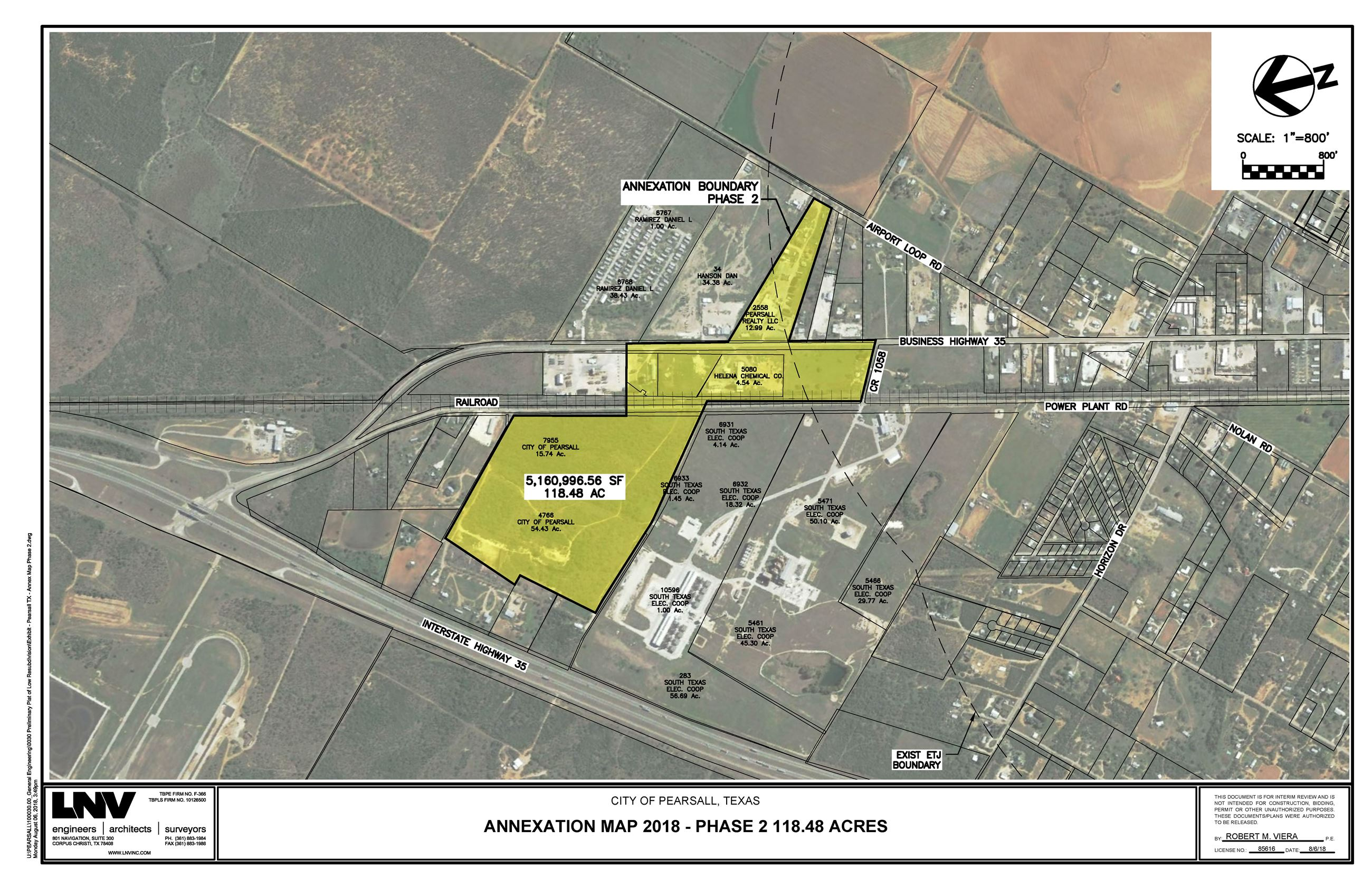 Exhibit - Pearsall TX - Annex Map Phase 2